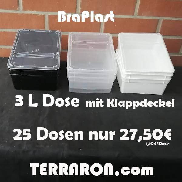 25 x BraPlast Dose 3l transparent