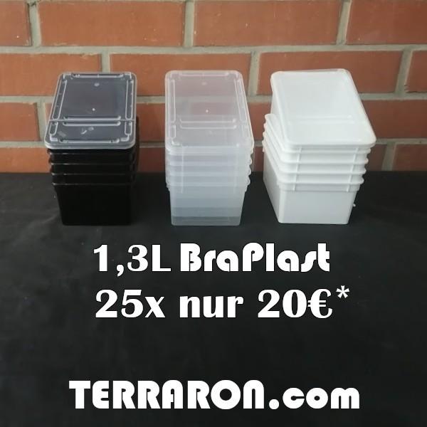 25x BraPlast Dose 1,3L weiss